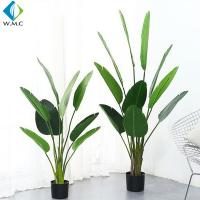 Palm Banana Artificial Bonsai Plants 5-10 Years Life Time Customized Design for sale