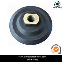 Quality 80mm rubber flexible polishing backer pads for air grinder for sale