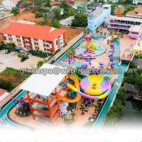 Quality Interactive Amusement Water Park Slides 18m Length For Funny Theme Park for sale