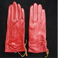 Quality Leather Womens Waterproof Gloves , Sheepskin Womens Leather Dress Gloves for sale