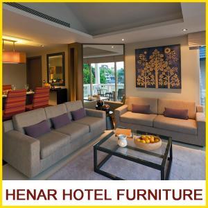 Buy cheap Custom Made Ritz - Carlton Urban Hotel Furniture Gray Fabric Sofa Set 5 Star product
