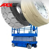 Quality APEX Mould On Tire for Scissor Lift, Sweepers, Floor Cleaner, Road Paver, Shield Hauler for sale
