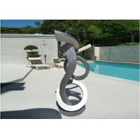 Quality Brushed Craft Stainless Steel Sculpture Art Home Decoration Swimming Pool Garden for sale