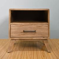 Buy cheap Rustic One Draw Solid Wood Bedside Cabinets , Portable Bedside Night Tables product