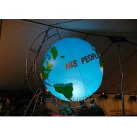 Quality Customized Inflatable Earth Globe , PVC Helium Filling Pplanet Earth Balloons for sale