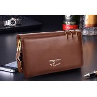 Quality Genuine Leather Mens Wallet Card Holder Hand Clutches Bag for sale