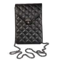 China Black Fashion Waterproof Waist Bag Portable For Jewelry Leather Material on sale