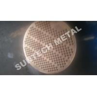 Buy cheap SA516 Gr.70 Thick Naval Brass Clad Plate Tubesheet Machined and Drilled product