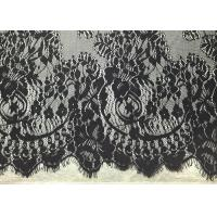 """Buy cheap Black Width 60"""" Nylon Embroidered Eyelash Lace Trim with Knitted / Jacquard from wholesalers"""