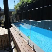 China Glass Pool Fence with Certificates / Baby Pool Fence Glass Railing Outdoor Frameless Railing on sale