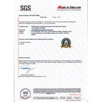 Ningbo Yongtuo Construction Machinery Co.,Ltd. Certifications