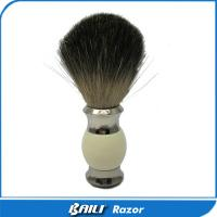 Quality Metal Handle Fluffy Pure Badger Hair Shaving Care Brush 60mm Height for sale