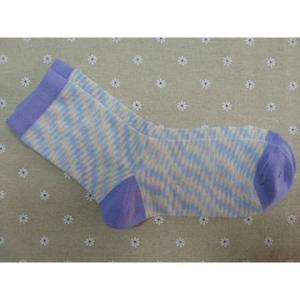China Custom logo, design 100% Cotton knitted crew socks on sale