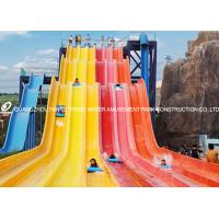 Quality Theme Park Custom Water Slides Steel Structure For Hotel / Resorts Used for sale