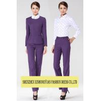 China Front Office Uniforms Business Dress Suits For Women Ladies Corporate Wear on sale