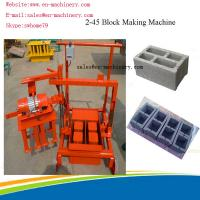 Quality Portable Brick Making Machine Block Forming Machine with Moulds Movable 2-45 new type for sale