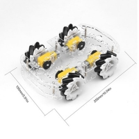 Buy 4WD Plastic Transparent Wheel Smart Car Chassis Kit For Mecanum at wholesale prices