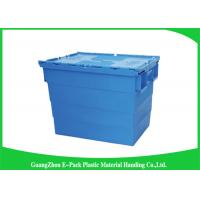 Quality Durable Plastic Attached Lid Containers / Heavy Duty Plastic Storage Boxes for sale