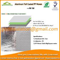 China Aluminum Foil Coated PP Woven as roof reflective insulation on sale