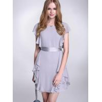 Quality High Waist Flattering Chiffon Cocktail Dresses With Ribbon For Girls for sale