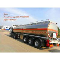 China 50000 Liters Air Suspension Aluminum Tanker Trailer For Petrol And Gasoline Transportation on sale