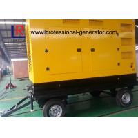 Buy Mobile 300kVA Portable Diesel Generator Set with ATS for Construction , Weichai Power at wholesale prices