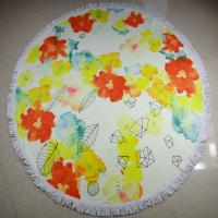 Buy cheap reactive custom printing cotton terry velour round beach towels circular beach towels product
