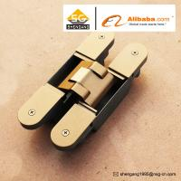 Buy cheap Zinc Alloy 3D Adjustable Concealed Hinge / Invisible hinge For Wooden Doors from wholesalers
