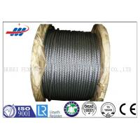 Quality High Tensile Flexible Galvanized Steel Wire Rope With 6-48mm Wire Gauge for sale