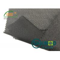 Quality Lightweight Twill Woven Lining Water Jet Polyester Interfacing Black Color for sale