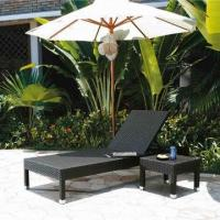 China Outdoor sun chaise lounge chair with PE rattan wicker,UV resistance-garden/hotel furniture on sale
