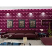 Quality Luxury Living Room 3D Wall Coverings / Wall Art 3D Wall Panels with Plant Fiber 500*500 mm for sale