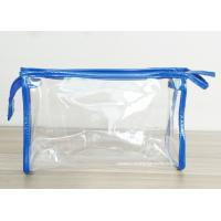Quality Transparent PVC Cosmetic Bag with Zipper closure , Clear Vinyl Make-Up Pouches for sale