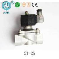 China Stainless Steel 1 inch 2 Position 2 Way Gas Solenoid Valve 220v on sale