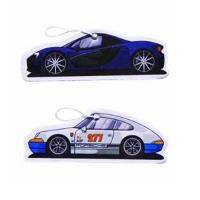 Quality Advertising Custom Paper Car Air Freshener Hanging Small Size Offset Printing for sale
