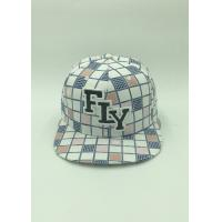 Quality Mens Polyester Floral Sports Snapback Caps Applique Embroidery Outside for sale