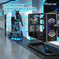 Buy cheap 50 inch Screen VR Flight Simulator ,  720 degree Virtual Reality Experience from wholesalers
