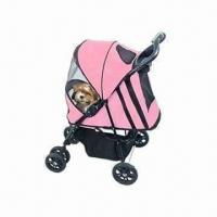 Quality Pet Stroller with Large Storage Basket for sale