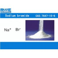 China Colorless Cubic Crystal Inorganic Bromide Sodium Bromide Slightly Soluble In Alcohol on sale