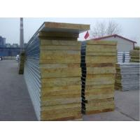 Quality Roof and wall rock wool sandwich panel for sale