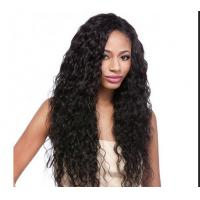 China Water Wave / Kinky Curly Human Hair Wigs 100% Brazilian Wig , Hair Extension Double Wefted on sale