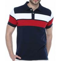 China Mens POLO T Shirts 100% Cotton Short Sleeve Customized Screen Printing Casual Style on sale