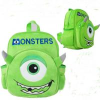 China Monsters University Mike Kids School Backpacks Personalized , Green on sale
