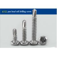 China Black Oxide Round Head Stainless Steel Self Drilling Fasteners Full Thread # 14 X 1  on sale