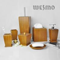 Quality 7 Piece Contemporary Smooth and Anti Water Natural Bamboo Bathroom Sets for sale