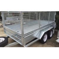China 10 X 6 Steel Stock Crate Trailer / Tandem Cage Trailer For Animal Transport on sale