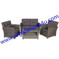 Buy outdoor garden 4pcs grey wicker sofa set RLF-022ST at wholesale prices