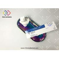 Quality Glossy UV Finishing 10ml Vial Labels Metallized Silver For Glass Vial Bottles for sale