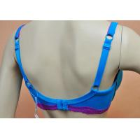Buy Blue Polyester / Nylon Padded Plus Size Convertible Bra For Ladies With OEM ODM Service at wholesale prices