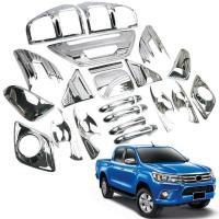 China Eco Friendly Plastic Car Chrome Kit Sliver And Black Color For Hilux Revo 2015+ on sale